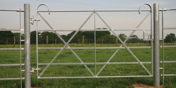 Estate – Single Leaf Gate with Posts